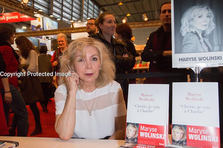 MARYSE WOLINSKI - LIVRE PARIS - SALON DU LIVRE 2016