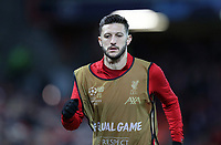 Liverpool's Adam Lallana warms-up<br /> <br /> Photographer Rich Linley/CameraSport<br /> <br /> UEFA Champions League Round of 16 Second Leg - Liverpool v Atletico Madrid - Wednesday 11th March 2020 - Anfield - Liverpool<br />  <br /> World Copyright © 2020 CameraSport. All rights reserved. 43 Linden Ave. Countesthorpe. Leicester. England. LE8 5PG - Tel: +44 (0) 116 277 4147 - admin@camerasport.com - www.camerasport.com