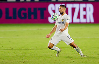CARSON, CA - OCTOBER 18: Sebastian Lletget #17 of the Los Angeles Galaxy traps the ball during a game between Vancouver Whitecaps and Los Angeles Galaxy at Dignity Heath Sports Park on October 18, 2020 in Carson, California.
