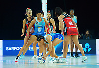 Action from the ANZ Premiership netball final between Northern Mystics and Mainland Tactix at Spark Arena in Auckland, New Zealand on Sunday, 8 August 2021. Photo: Dave Lintott / lintottphoto.co.nz