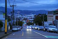 Adelaide Rd at 7am during Level 4 lockdown for the COVID-19 pandemic in Wellington, New Zealand on Monday, 23 August 2021.