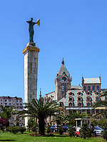 Europaplatz mit Statue der Medea, Batumi, Adscharien - Atschara, Georgien, Europa<br /> Europe Square with statue of Medea, Batumi, Adjara,  Georgia, Europe