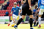 St Johnstone v Livingston….04.05.19      McDiarmid Park        SPFL<br />Matty Kennedy runs at the Livvy defence<br />Picture by Graeme Hart. <br />Copyright Perthshire Picture Agency<br />Tel: 01738 623350  Mobile: 07990 594431
