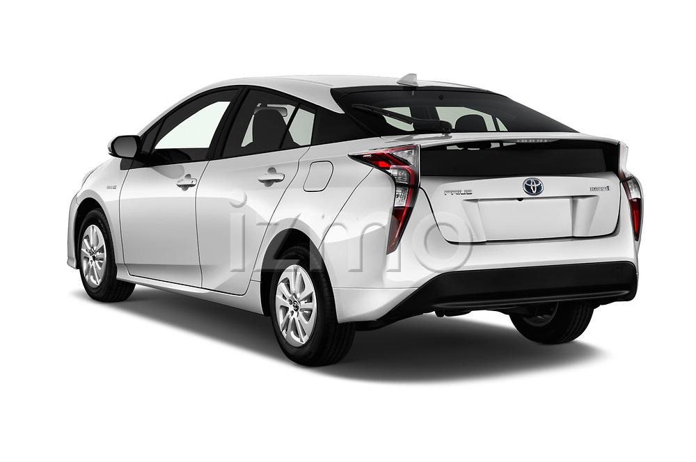 Car pictures of rear three quarter view of 2018 Toyota Prius Two 5 Door Hatchback Angular Rear