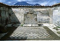 Italy: Pompeii. Mount Vesuvius in background. Photo '83.