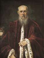 TINTORETTO, Jacopo Robusti, called Il (1518-1594). Portrait of Procurator Alessandro Gritti. 1571 - 1582. Bequest of Cambó. Fl