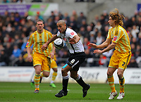 ATTENTION SPORTS PICTURE DESK<br /> Pictured: Darren Pratley of Swansea City in action<br /> Re: Coca Cola Championship, Swansea City Football Club v Newcastle United at the Liberty Stadium, Swansea, south Wales. 13 February 2010