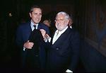 PAOLO VILLAGGIO CON FRANCESCO RUTELLI<br /> FESTA CORBUCCI AL CASTELLO DELLA CRESCENZA ROMA 1999