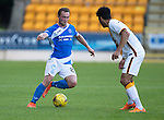 St Johnstone v Bradford City…19.07.16  McDiarmid Park, Perth. Pre-season Friendly<br />Chris Kane is closed down by Nathanial Knight-Percival<br />Picture by Graeme Hart.<br />Copyright Perthshire Picture Agency<br />Tel: 01738 623350  Mobile: 07990 594431