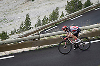 former Ventoux winner Thomas De Gendt (BEL/Lotto Soudal) coming down the Mont Ventoux<br /> <br /> Stage 11 from Sorgues to Malaucène (199km) running twice over the infamous Mont Ventoux<br /> 108th Tour de France 2021 (2.UWT)<br /> <br /> ©kramon