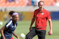 Houston, TX - Sunday Oct. 09, 2016: Jim Gabarra prior to the National Women's Soccer League (NWSL) Championship match between the Washington Spirit and the Western New York Flash at BBVA Compass Stadium. The Western New York Flash win 3-2 on penalty kicks after playing to a 2-2 tie.