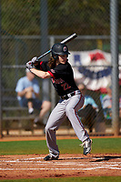 Omaha Mavericks Garrett Kennedy (22) bats during a game against the Dartmouth Big Green on February 23, 2020 at North Charlotte Regional Park in Port Charlotte, Florida.  Dartmouth defeated Omaha 8-1.  (Mike Janes/Four Seam Images)