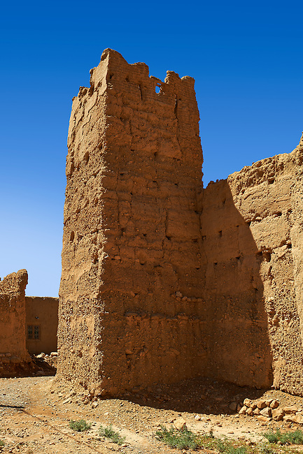 Kasbah in a ruined Ksar in the Ziz Gorge, Morocco