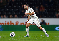 Jordi Amat of Swansea City during the Capital One Cup match between Hull City and Swansea City played at the Kingston Communications Stadium, Hull