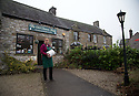 16/12/16<br /> ***WITH PICS***<br /> <br /> <br /> Claire Millner outside The Old Cheese Shop in Hartington where their traditional Blue Stilton is sold.<br /> <br /> More than 1,800 of these traditional Christmas Blue Stilton cheeses have already left Hartington Creamery, in the heart of the Derbyshire Peak District, but with just one more week left before the big day, there are still another 150 of the giant 8kg cheese cylinders to reach maturity and be shipped out in time to partner the post-feast glass of port on December 25th.<br /> <br /> FULL STORY: https://fstoppressblog.wordpress.com/christmas-blue-stilton-from-derbyshire/<br /> <br /> All Rights Reserved: F Stop Press Ltd. +44(0)1773 550665  www.fstoppress.com