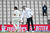 Michael Gough, Umpire suggest light is insufficient to continue and play is suspended during India vs New Zealand, ICC World Test Championship Final Cricket at The Hampshire Bowl on 19th June 2021
