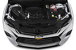 Car Stock 2020 Chevrolet Blazer Premier 5 Door SUV Engine  high angle detail view