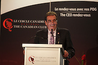 September 30, 2013 - Normand Rinfret, Director General and CEO of the McGill University Health Centre deliver a speech to the Canadian Club of Montreal.