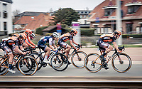 Jolien Dhoore (BEL/Boels-Dolmans) full speed ahead, followed closely by Chantal van den Broek-Blaak (NED/Boels-Dolmans) & Elisa Longo Borghini (ITA/Trek-Segafredo)<br /> <br /> AG Driedaagse Brugge-De Panne 2020 (1.WWT)<br /> 1 day race from Brugge to De Panne (156km) <br /> <br /> ©kramon