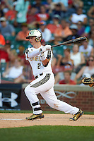 Michael Amditis (2) of the National team at bat during Under Armour All-American Game presented by Baseball Factory on August 15, 2015 at Wrigley Field in Chicago, Illinois.  The National team defeated the American team 11-5.  (Mike Janes/Four Seam Images)