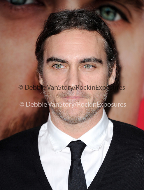 """LOS ANGELES, CA - December 12: Joaquin Phoenix arrives at The Warner Bros' Pictures L.A. Premiere of """"her"""" held at The DGA in West Hollywood, California on December 12,2013                                                                               © 2013 Hollywood Press Agency"""