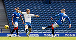 22.08.2020 Rangers v Kilmarnock: Ryan Kent scores the second goal for Rangers