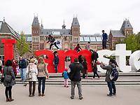 I amsterdam beim Rijksmuseum, Amsterdam, Provinz Nordholland, Niederlande<br /> I amsterdam  at Rijksmuseum, Amsterdam, Province North Holland, Netherlands