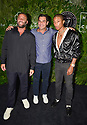 MIAMI BEACH, FL - APRIL 16: David Grutman, Mayor of Miami Francis X. Suarez and Pharrell Williams attend the Inter Miami CF Season Opening Party Hosted By David Grutman and Pharrell Williams at The Goodtime Hotel on April 16, 2021 in Miami Beach, Florida.  ( Photo by Johnny Louis / jlnphotography.com )