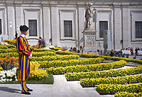 Pontifical Swiss Guard; Pope Francis during of a weekly general audience at St Peter's square in Vatican, WednesdayApril 24, 2019