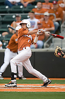 Texas OF Cohl Walla (1) swings against Stanford on March 4th, 2011 at UFCU Disch-Falk Field in Austin, Texas.  (Photo by Andrew Woolley / Four Seam Images)