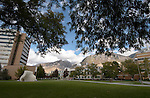 September General Campus Scenics (GCS).Sep 2004..Photo by Mark Philbrick/BYU.Quad between the Spencer W. Kimball Tower (SWKT) the Eyring Science Center (ESC), Tree of Life statue