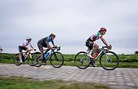 Elisa Longo Borghini (ITA/Trek Segafredo)<br /> <br /> Inaugural Paris-Roubaix Femmes 2021 (1.WWT)<br /> One day race from Denain to Roubaix (FRA)(116.4km)<br /> <br /> ©kramon