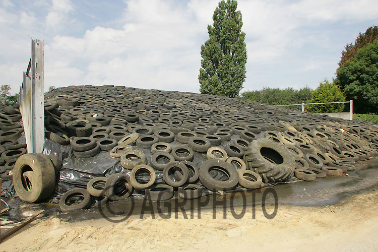 Silage Clamped On Farm To Feed Dairy Cows Through The Winter