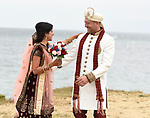 Pooja and Travis Indian Wedding on a bluff at Hither Hills, Montauk backed by the Montauk Lighthouse with reception at 360 East At Montauk Downs