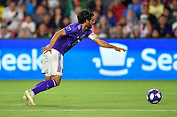 Orlando, FL - Wednesday July 31, 2019:  Carlos Vela #10 during the Major League Soccer (MLS) All-Star match between the MLS All-Stars and Atletico Madrid at Exploria Stadium.