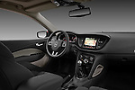 Passenger side dashboard photo of a 2013 Dodge Dart Rallye sedan