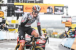 Austrian Champion Patrick Konrad (AUT) Bora-Hansgrohe wins solo Stage 16 of the 2021 Tour de France, running 169km from Pas de la Case to Saint-Gaudens, France. 13th July 2021.  <br /> Picture: A.S.O./Charly Lopez   Cyclefile<br /> <br /> All photos usage must carry mandatory copyright credit (© Cyclefile   A.S.O./Charly Lopez)