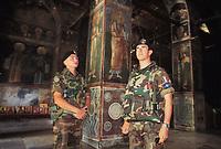 - Kosovo, Italian officers inside the church of the Orthodox Episcopate of Pec<br /> <br /> - Kossovo, ufficiali italiani all'interno della chiesa dell'Episcopato Ortodosso di Pec