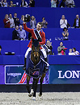OMAHA, NEBRASKA - MAR 30: McLain Ward and HH Azur win the FEI World Cup Jumping Final I at the CenturyLink Center on March 30, 2017 in Omaha, Nebraska. (Photo by Taylor Pence/Eclipse Sportswire/Getty Images)