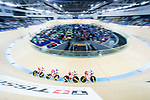The team of Poland with 36 Daria Pikulik, Natalia Rutkowska, Justyna Kaczkowska and Nikol Plosaj of Poland compete in the Women's Team Pursuit - Qualifying as part of the 2017 UCI Track Cycling World Championships on 12 April 2017, in Hong Kong Velodrome, Hong Kong, China. Photo by Chris Wong / Power Sport Images