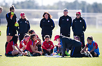 Lakewood Ranch, FL - December 11, 2017: The U17 USWNT trains during camp.