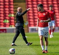24th April 2021, Oakwell Stadium, Barnsley, Yorkshire, England; English Football League Championship Football, Barnsley FC versus Rotherham United; Alex Mowatt of Barnsley warming up ahead of kick off