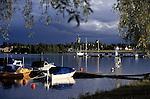 Sweden, Province Dalarna, Mora: stormy atmosphere at Siljan Lake | Schweden, Provinz Darlana, Mora: Gewitterstimmung am Siljan See