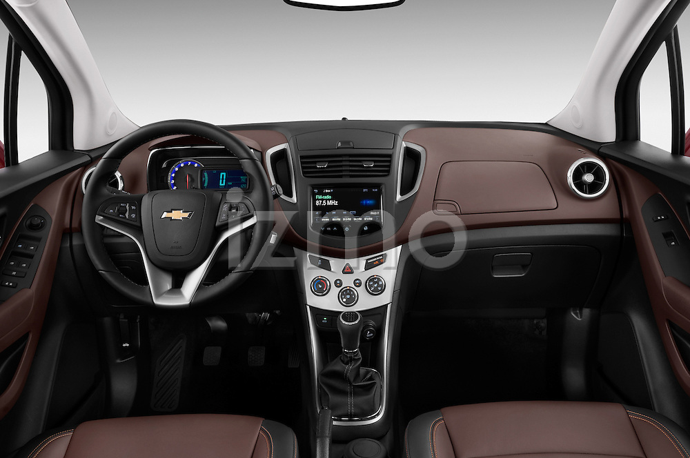 Straight dashboard view of a 2013 Chevrolet TRAX LT+ 5 Door Suv 2WD