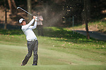 Lu Wei-chih from Taiwan hits the ball during Hong Kong Open golf tournament at the Fanling golf course on 22 October 2015 in Hong Kong, China. Photo by Xaume Olleros / Power Sport Images