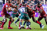 26th September 2020; Toulon, France; European Challenge Cup Rugby, semi-final; RC Toulon versus Leicester Tigers;  Masivesi Dakuwaqa (RC Toulon) is held up by Tom Youngs (Leicester)