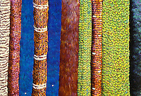 Traditional Hawaiian feather leis used to adourn hats