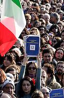 Manifestazione in difesa della Costituzione italiana e della scuola pubblica, a Roma, 12 marzo 2011..Demonstration in defence of the Italian Constitution and the public school, in Rome 12 march 2011..UPDATE IMAGES PRESS/Riccardo De Luca