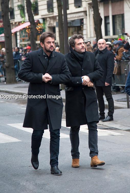 January 12 2018, Paris, France - Funerals of Singer France Gall in Montmartre Cemetery in Paris. Singer Matthieu Chedid is present. # OBSEQUES DE FRANCE GALL AU CIMETIERE DE MONTMARTRE