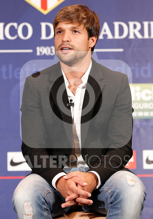 Atletico de Madrid's new player Diego Ribas during his official presentation. September 1, 2011. (ALTERPHOTOS/Acero)